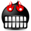 Иконка черный смайлик