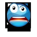 Иконка синий смайлик