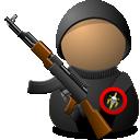 Иконка юзер с автоматом - юзер, оружие
