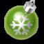 Иконка зеленый ёлочный шар