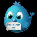 Иконка Twitter - твиттер, птичка, twitter
