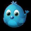 Иконка птичка twitter - твиттер, птичка, twitter