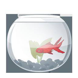 Иконка аквариум с рыбкой - рыбы, аквариум