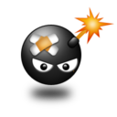 Иконка смайлик бомбочка