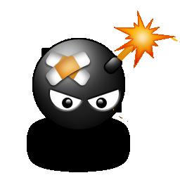 Иконка смайлик бомбочка - смайлы, бомба