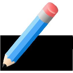 Иконка синий карандаш - карандаш