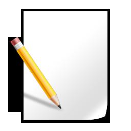 Иконка лист с карандашом - лист, карандаш, бумага