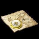 Иконка карта - компас, карта