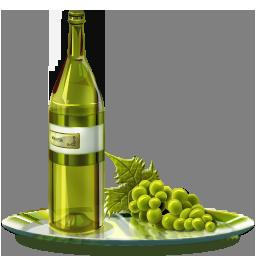 Иконка вино и виноград - виноград, вино