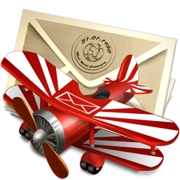 Иконка воздушная почта - самолёт, почта
