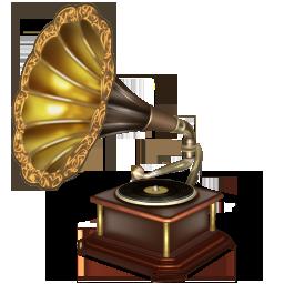 Иконка граммофон - ретро, граммофон