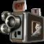Иконка ретро кинокамера