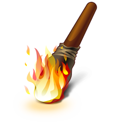 Иконка факел - факел, огонь