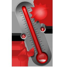Иконка градусник - термометр, температура, градусник
