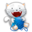 Иконка котенок с клубком