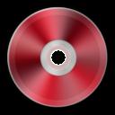 Иконка красный диск - диск, dvd, cd