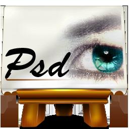 Иконка формат psd - psd, Photoshop
