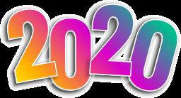 Надпись 2020 - новый год, 2020