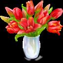 Иконка цветы - цветы, тюльпаны, букет