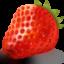 Иконка клубника на прозрачном фоне
