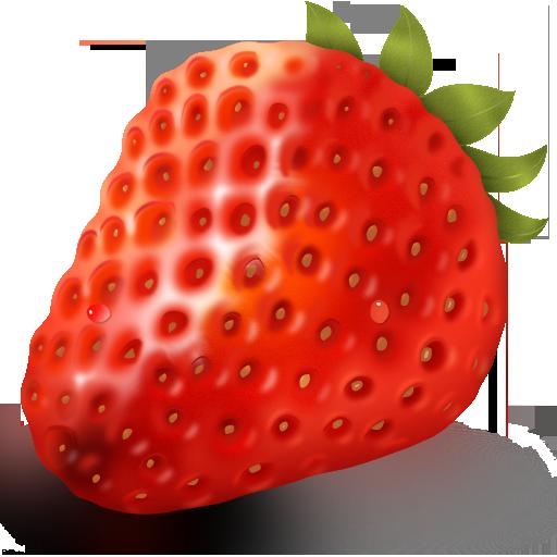 Иконка клубника на прозрачном фоне - ягоды, клубника