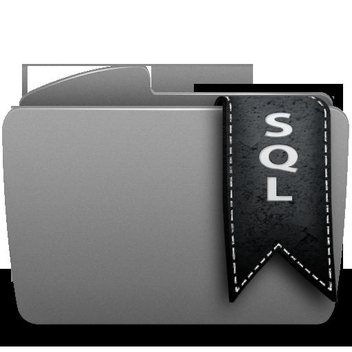 Иконка sql - папка, sql