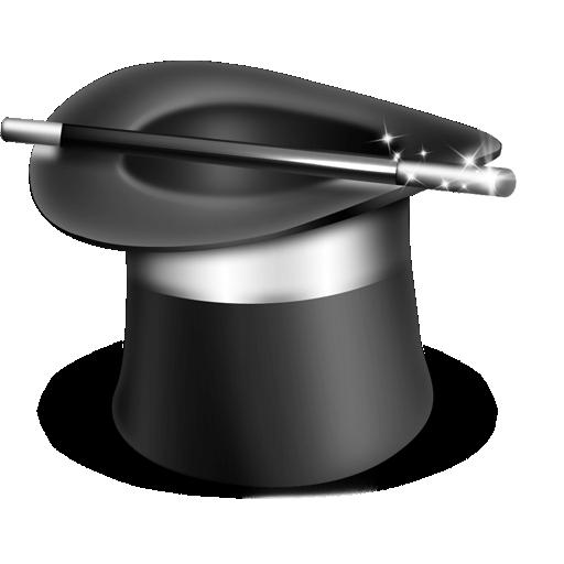 Иконка цилиндр фокусника - фокусы, магия