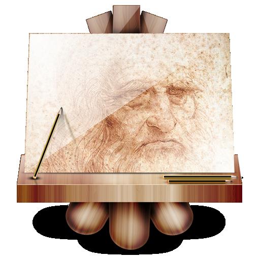 Иконка мольберт - рисунок, мольберт