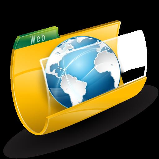 Иконка интернет - папка, web
