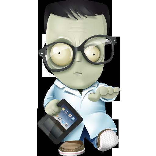 Иконка Франкенштейн с ipad - зомби, ipad
