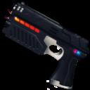 Иконка футуристический пистолет - фантастика, пистолет, оружие