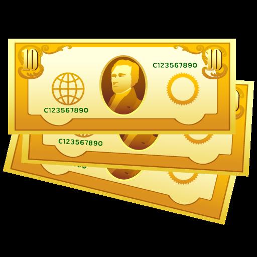 Иконка png купюры - купюры, деньги, банкноты
