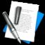 Иконка блокнот с ручкой