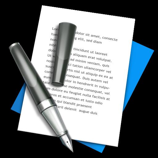 Иконка блокнот с ручкой - записи, бумага, блокнот
