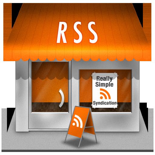 Иконка RSS дом - здание, rss