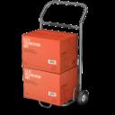 Иконка тележка с коробками - тележка, коробка
