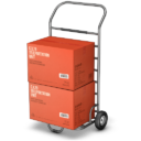 Иконка тележка с коробками