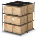 Иконка склад - склад, коробка, грузоперевозки, груз