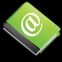 Иконка книга контактов - контакты, книга, блокнот, email
