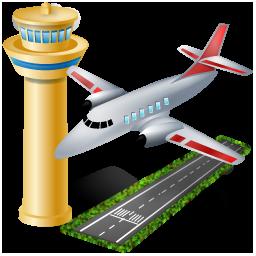 Иконка аэропорт - самолёт, аэропорт