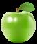 Зеленое яблоко без фона