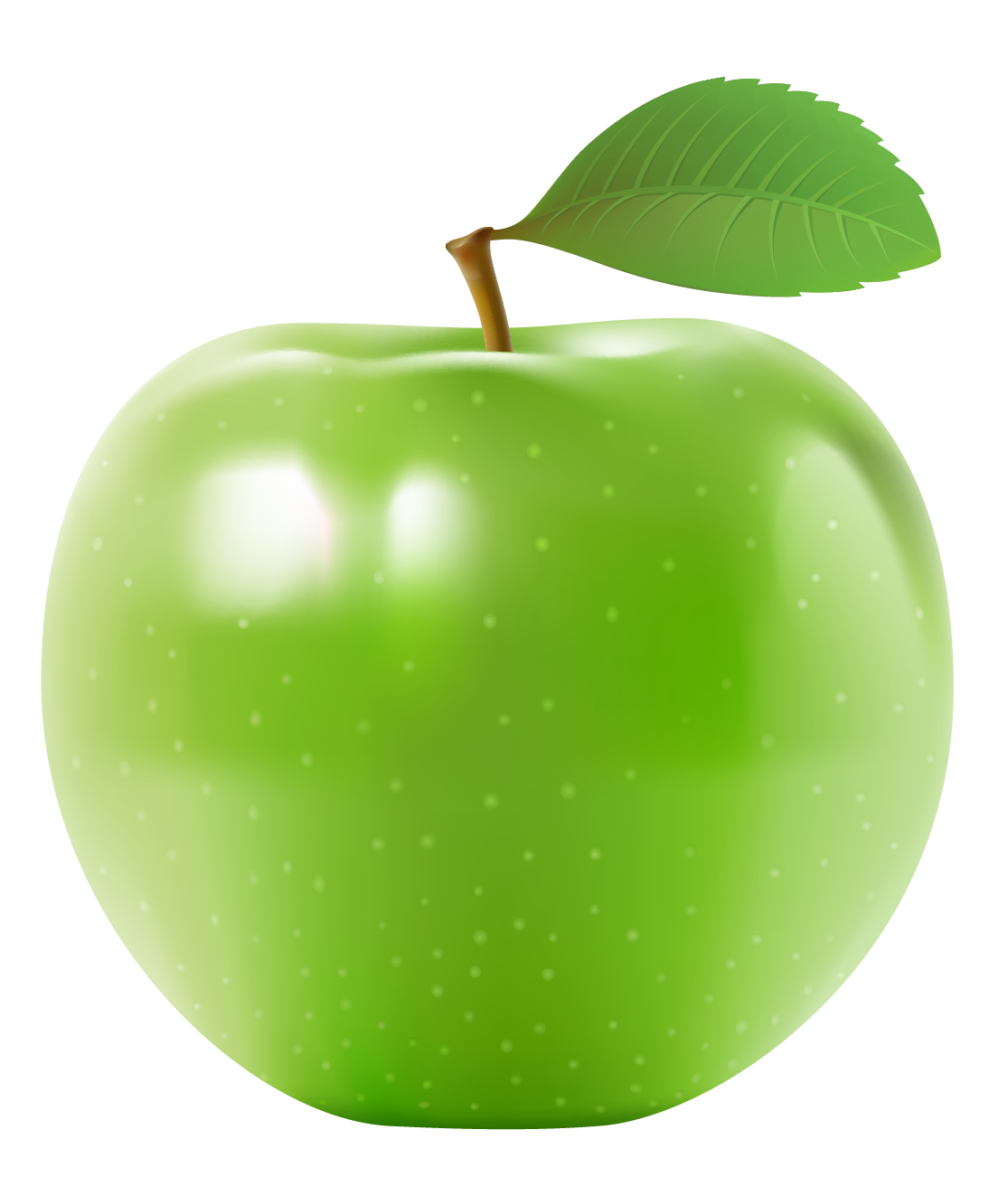 Зеленое яблоко без фона - яблоко, фрукты