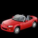 Иконка красный автомобиль