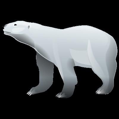 Иконка белый медведь - медведь