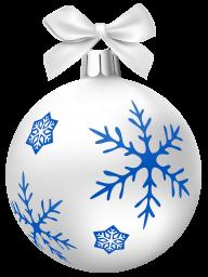Белый ёлочный шар - праздники, новый год, ёлочные игрушки