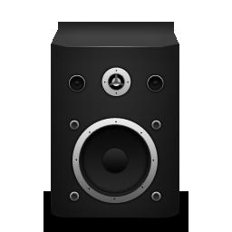 Иконка черная колонка - музыка, колонка