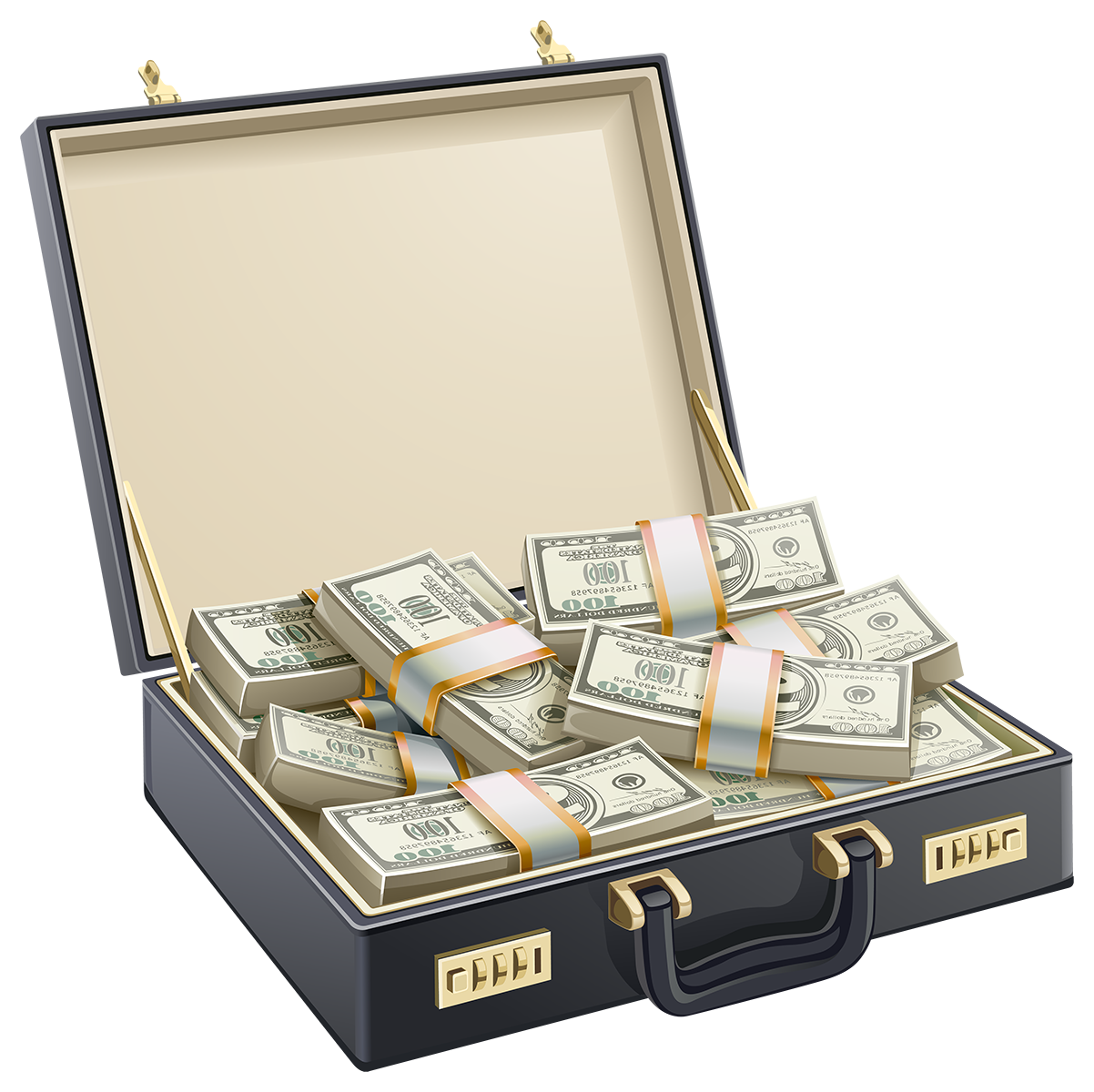 Чемодан с деньгами - чемодан, купюры, деньги, бизнес