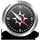 Иконка компас - навигация, компас, gps