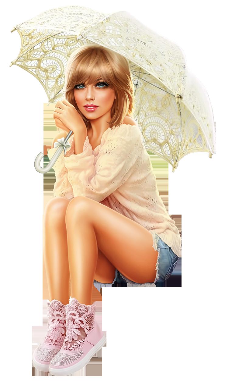 Девушка с зонтиком - люди, девушки, девушка