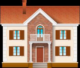 Дом на прозрачном фоне - здание, дом